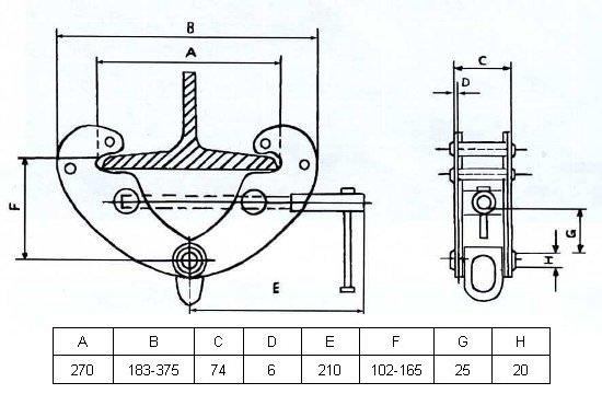 Захоплювач монтажний GART Lifting 2 Т