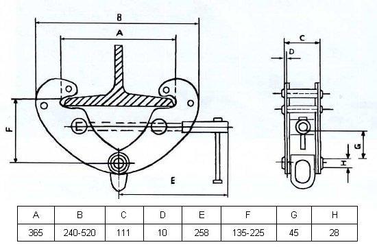 Захват монтажный GART Lifting 5 Т