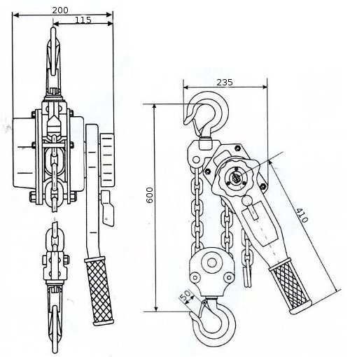 Таль ручная рычажная GART Lifting HSH-B 6 T