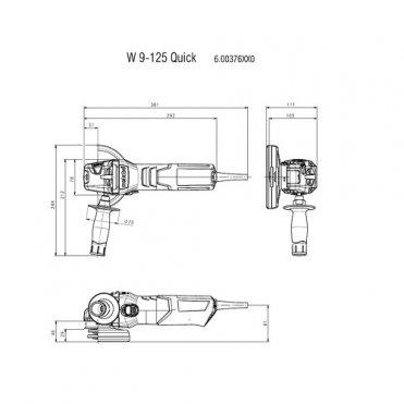 Угловая шлифмашина одноручная Metabo W 9-125