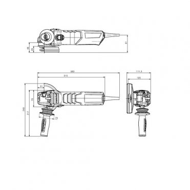 Угловая шлифмашина одноручная Metabo WEVA 15-125 Quick