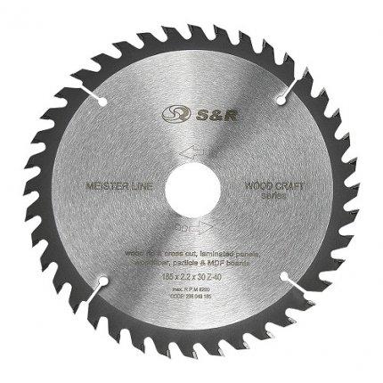 Диск пильный S&R Meister Wood Craft 185x30/16/20x2,2 мм