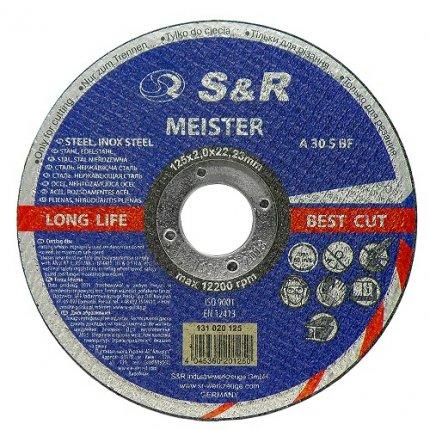 Круг отрезной по металлу S&R Meister A 30 S BF 125x2,0x22,2