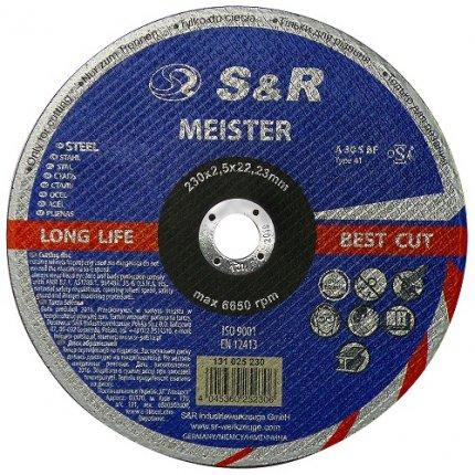 Круг отрезной по металлу S&R Meister A 30 R BF 230x2,5x22,2