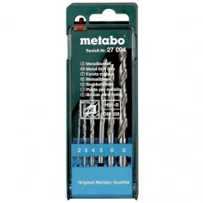 Набор сверл по металлу Metabo HSS-G, 6 пр.