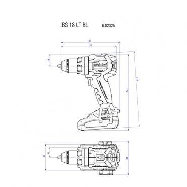 Дрель-шуруповерт аккумуляторный Metabo BS 18 LT BL
