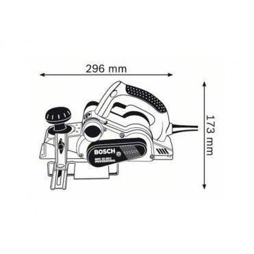Рубанок Bosch GHO 40-82 C L-BOXX