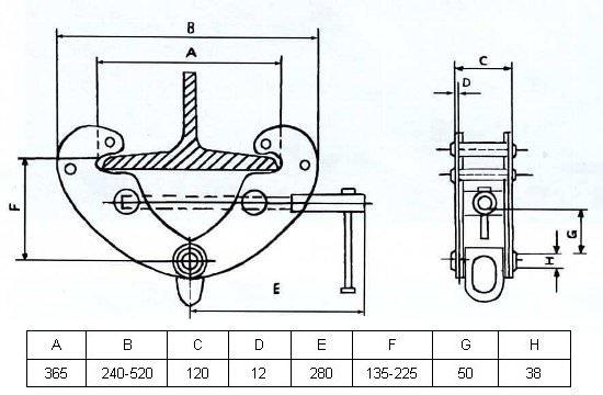 Захват монтажный GART Lifting 10 Т