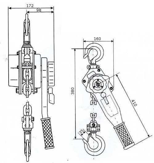 Таль ручная рычажная GART Lifting HSH-B 1.5 T