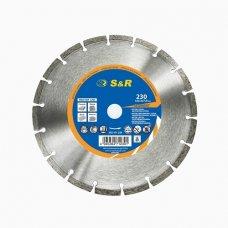 Диск отрезной алмазный S&R Meister сегментный по бетону 230 мм.