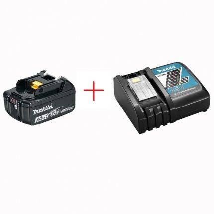 Набор аккумулятор + зарядное устройство Makita BL1830B+DC18RC
