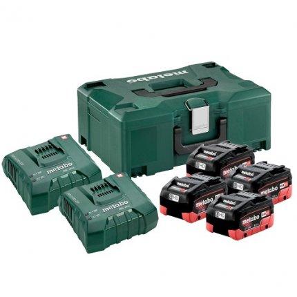 Комплект аккумуляторов и зарядных устройств Metabo 4 x LiHD 8,0 + MetaLoc II