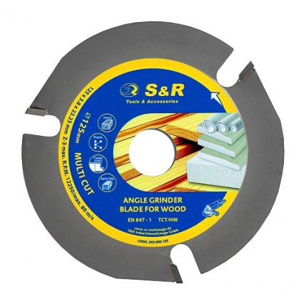 Диск пильный S&R MULTI CUT 125х22,2х3,8 мм