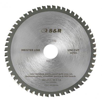 Диск пильный S&R Meister UniCut 190x30x2,4 мм