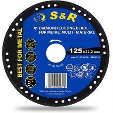 Круг алмазний S&R 125 x 22.2 мм металл/универсальный PROFI