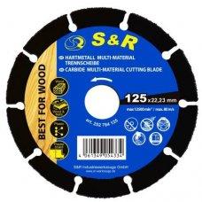 Диск S&R карбид-вольфрамовый 125 x 22.23 мм MULTI-MATERIAL