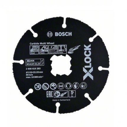 Диск пильный Bosch X-Lock Carbide Multi Wheel 115х1,0х22,2 мм
