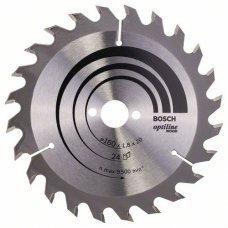 Диск пильный Bosch Optiline Wood 160x24/16 мм, 24