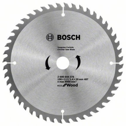 Диск пильный Bosch ECO for Wood 190x20