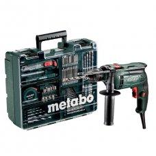 Дрель ударная Metabo SBE 650 БЗП + комплект принадлежностей