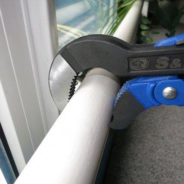 Ключ трубный разводной S&R S 1' /45° (264330400)