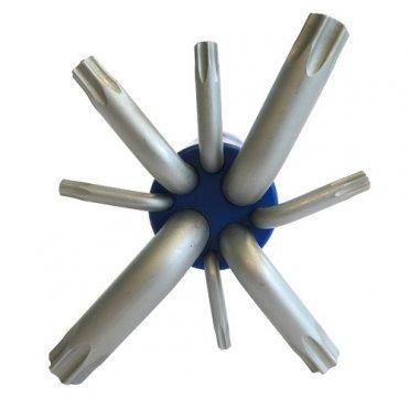 Набор шестигранных ключей S&R TX 8шт в пластиковой клипсе (365612008)