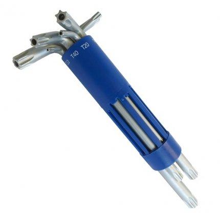 Набор шестигранных ключей S&R TX 8шт в пластиковой клипсе