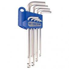 Набор шестигранных ключей King Tony 20129SR 9 ед.