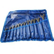 Набор ключей гаечных комбинированных Сибртех 12шт (6-22мм) с фосфатированным покрытием