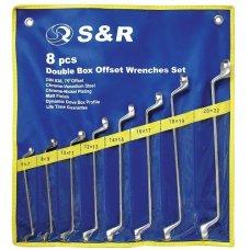 Набор ключей гаечных накидных S&R 8шт (6х7-20х22мм)