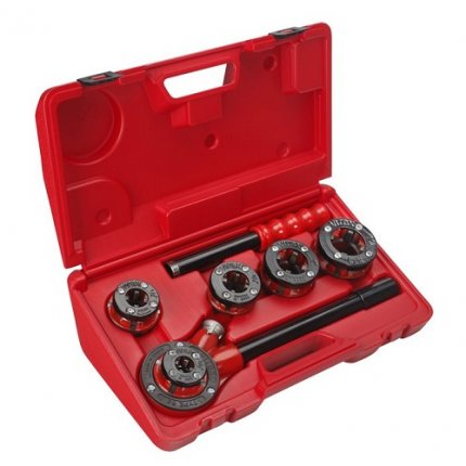 Клуппы резьбонарезные набор VIRAX 62С2 1/8 - 1.1/4 дюйм
