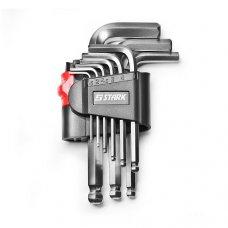 Набор шестигранных ключей Stark 9 шт. с шарикообразным наконечником