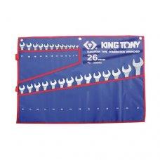 Набор гаечных комбинированных ключей King Tony 1226MRN