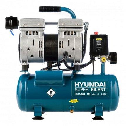 Компрессор безмасляный Hyundai HYC 1406S 6 л 8 бар