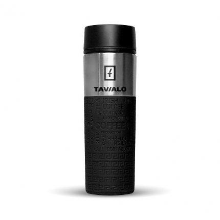 Термокружка Tavialo 420 мл черный цвет + 2 уплотнительных кольца