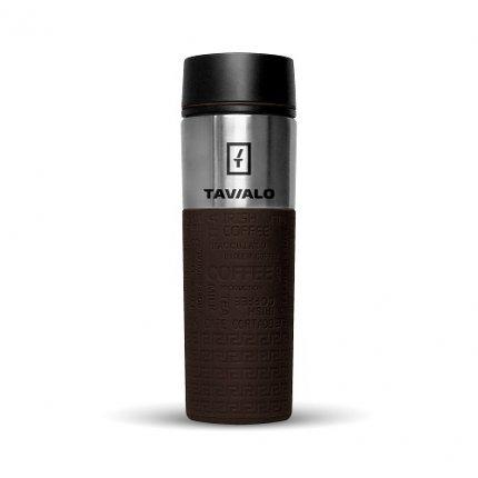 Термокружка Tavialo 420 мл коричневый цвет + 2 уплотнительных кольца