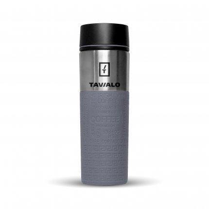 Термокружка Tavialo 420 мл серый цвет + 2 уплотнительных кольца