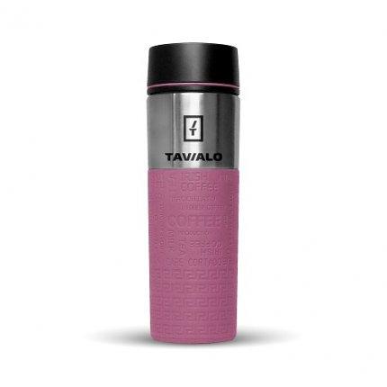 Термокружка Tavialo 420 мл розовый цвет + 2 уплотнительных кольца