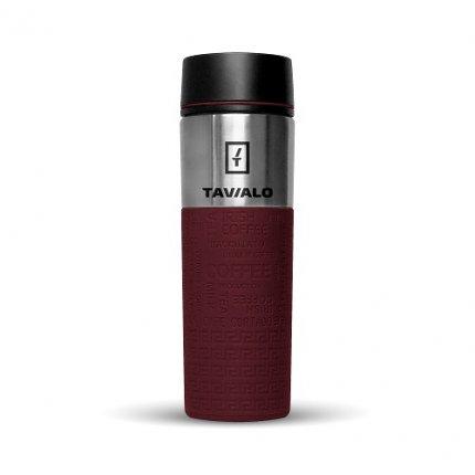 Термокружка Tavialo 420 мл бордовый цвет + 2 уплотнительных кольца