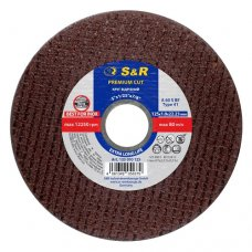 Круг отрезной по нержавеющей стали S&R Premium Cut INOX 125x1,0x22,2мм