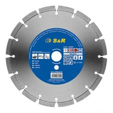Диск отрезной сегментный S&R по асфальту Standart 350