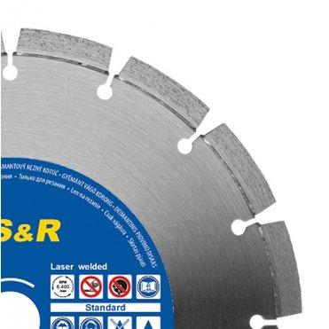 Диск отрезной сегментный S&R по асфальту Standart 350 (242465350)