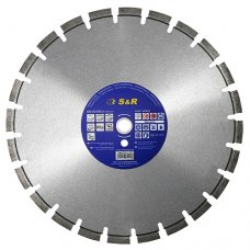 Диск отрезной сегментный S&R по бетону Standart 350