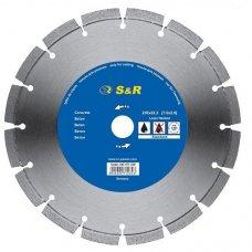 Диск отрезной сегментный S&R по бетону Standart 125