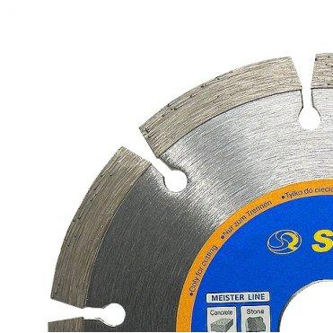 Диск отрезной алмазный S&R Meister сегментный по бетону 125 мм. (252471125)
