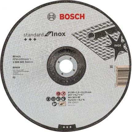 Круг отрезной по нержавеющей стали Bosch Standard for Inox 230x22.3 мм