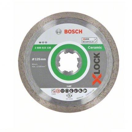 Диск алмазный отрезной Bosch X-Lock Standart for Ceramic 125x1.6x22.2