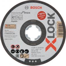 Круг абразивный отрезной Bosch X-Lock Standart for Inox 125x22,2 мм (1,6 мм)