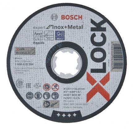 Круг абразивный отрезной Bosch X-Lock Expert for Inox+Metal 125x22,2 мм