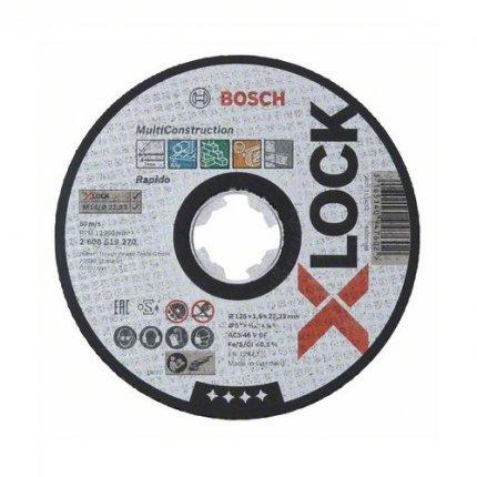Круг абразивный отрезной Bosch X-Lock Multi Material 125x22,2 мм